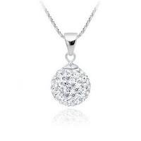 Minimum $18 mixed free shipping 925 pure silver necklace shambhala style inserted Imitation diamond crystal pendant necklace