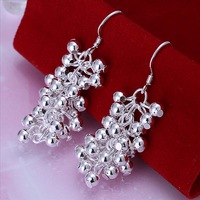 Minimum $18 mixed batch of/free shipping 925 pure silver earring grape series earrings/white fungus hook not allergic