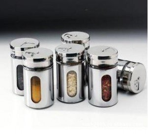 FREE SHIPPING 2pcs/Lot Kitchen Condiment Container,Glass Liner Of Stainless Steel Skin Durable Cruet #1045