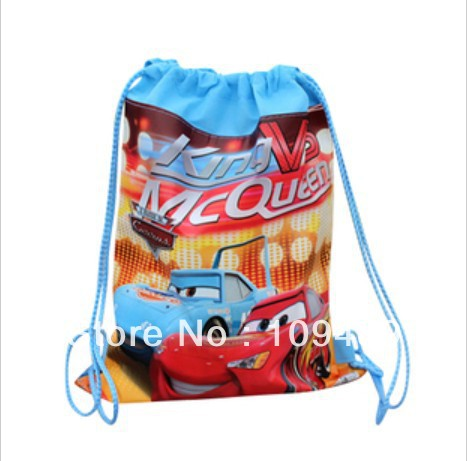 Free Shipping EMS 50/Lot Pixar Car Canvas Backpack Storage bag 6 style - Kids Bag Wholesale Christmas Gift(China (Mainland))