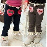 Wholesale woolen feet trousers leggings girls kids baby skinny tights boots pants LOVE&BOW 5pcs/lot free ship 570073J