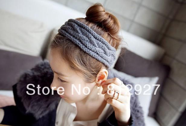 B0404 Hot sale winter knitting wool headbands hair accessories free shipping wholesales & 12pcs/lot(China (Mainland))