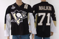 Hockey jerseys Men's cheap Jerseys Pittsburgh Penguins #71 Evgeni Malkin  Black   hockey jerseys SIZE:48-56