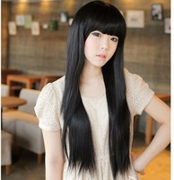 Non-mainstream wig qi liu long straight girls repair bulkness black