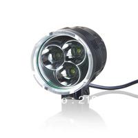 Shop Parcel Free shipping3* XML-T6 4-Mode 3600-Lumen White LED Bike Light with Battery Pack Set
