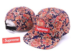supreme 5 Panal Camp Cap Flord Adjustable snapback hats Being A New Fashion Trend flowers caps mix order accept !(China (Mainland))