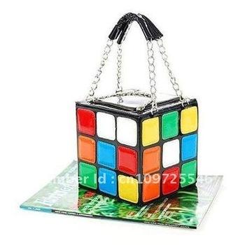 HotsaleHot Promotion High quality colorful magic cube handbags fashion shoulder bag