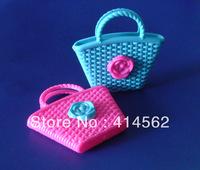 free shipping, doll accessories, doll handbag, shopping bag, plastic handbag,toy handbag