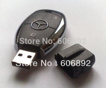 Car Key Shape USB 2.0 Flash disk Drive Stick Guaranteed Full Creative U Disk 2gb 4gb 8gb 16gb 32gb Free & Drop shipping