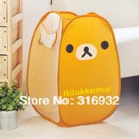 P3 Free shipping, cute Rilakkuma Clothes & Home Foldable Storage Basket 1PC