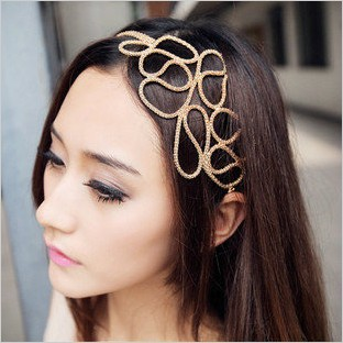 Fashion Hollow Out Braided Headband Hair Band Elastic Accessories(China (Mainland))