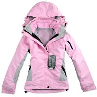 Two-piece ski suit outdoor women thicken windproof water Jackets