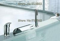 Free Delivery - Bathroom Basin Mixer Chrome Widespread Bathtub Faucet(M-8001-2)
