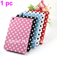 1pc 5Colors Polka Dot Pattern PU Leather Magnetic Smart Stand Case Cover Skin For i Pad Mini