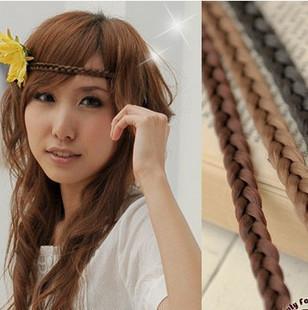 Min. order $15, Mix order hair accessory wig twisted braid hair bands headband hair pin