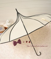2014 dot wrapping long handle pagoda cake umbrella for women + free shipping