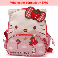 Free shipping EMS Wholesale 10pcs/lot cartoon school bag for children hello kitty backapck children's schoolbag kids lovely bags