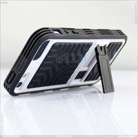 PC +Tpu  rubber skin case cover with stand for Apple iPhone 5 5G/5th  P-IPH5PC104