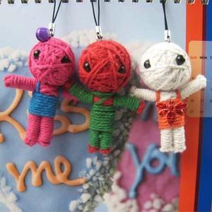 Free Shipping Various Styles Cute Yarn Doll Mobile Cell Phone MP3 Handbag Charm Gift 8047(China (Mainland))