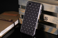 Free shipping Wholesale 10pcs/lot Luxury Gypsophila paniculata fashion diamond Silicon Hard Case for iPhone 4 4S