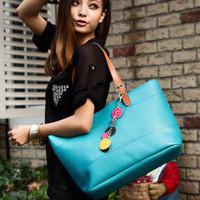 2012 candy color women's handbag fashion bags big bag preppy style shoulder bag handbag