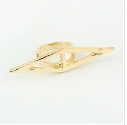 (Min order$10 mix) Free shipping!European and American fashion atmosphere Crystal ring(China (Mainland))