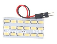 Free shipping+Guaranteed 100%+Super Bright 18 LED White Car Interior Light (White)