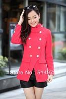Best Selling!!high quality fashion women's outerwear female woolen jackets winter women coat+free shipping