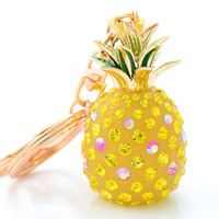 Hot Unisex Men&Women's DIY Pineapple Design Keychain Free Shipping Wholesale