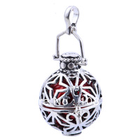 H11-20-D22 Free Shipping whoselae 925 Silver jewelry Pendant Harmony Ball bell ringing Chime Mexico ball Pregnant women ball