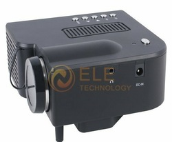 mini LED projector Native 320*240 AV LCD Digital Projector VGA A/V USB & SD(China (Mainland))