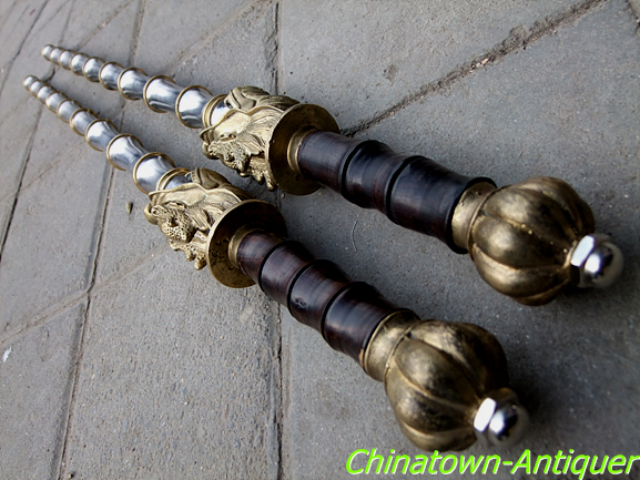 Beautiful Handmade Wooden Mace Decorative Wooden Cold