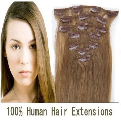 Cheap Light Brown Clip In Hair Extensions 60