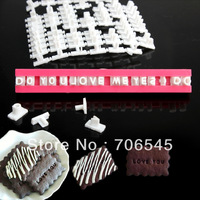Alphabet Letters Symbols Number Cookie Biscuit Stamp Cutter Mold Mould Tool Set