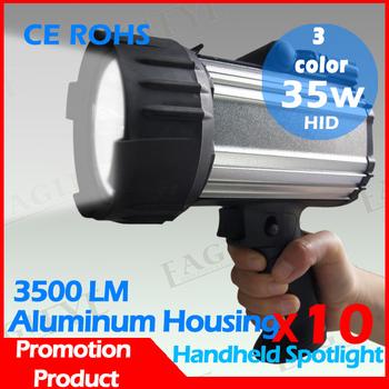 10 Pcs 55w hid xenon hunting spotlight, free shipping, 35w hid xenon portable hunting camping marine hand held spotlight