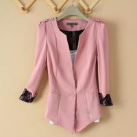 Hot sale 2012 autumn female slim V-neck lace 7 blazer outerwear suit