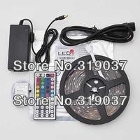 5 meters rgb LED STRIP 5M 150leds/ 5000CM Waterproof And waterproof RGB 5050 LED Strip+44 keys +12V 4A Power