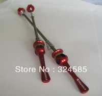 One pair red Bicycle Road bike Quick Release Truvelo titanium skewers