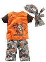 newborn boys brand conjunto de roupa summer clothing character 3 pcs boy suit conjunto infantil meninas t shirts+pant +headband