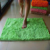 Ultrafine fiber chenille  doormat mat waste-absorbing slip-resistant pad bath mat 50*80cm ,Free shipping