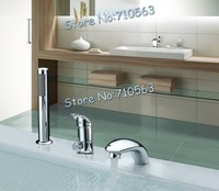 2012 New Arrival ! Free shipping ! 3 Hole Single handle Brass Waterfall Bathtub Faucet  Bathroom mixer Faucet (M-8016-2)