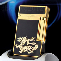 New in box S.T. Dupont Ligne Lighter & Gold Black Laquer & Dragon