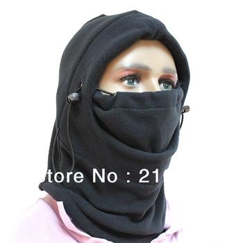 Thermal Fleece 6 in 1 Balaclava Hood Police Swat Ski Bike Wind Stopper Mask New