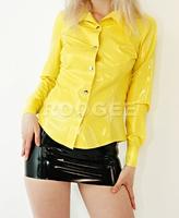 Fashionable latex shirt tops