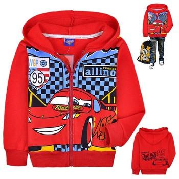Free shipping,Wholesale 6pcs Baby boy Cartoon CARS design jacket,cotton terry Sweatshirts,Hooded coat,Fashion Autumn wear