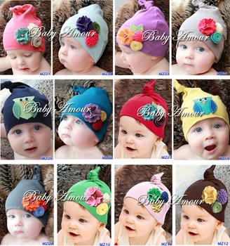 Baby amour handmade flower cute cap baby hat kmbaby