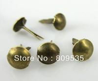 Free Shipping 1000pcs Bronze Tone Mini Round  Brads Scrapbooking Embellishment
