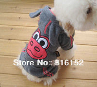 Winter Pet clothes Dog Coat Jacket Lovely Animal Print Gray color Cattle Free Shipping