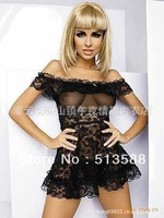 Free shipping Europe and the United States sexy lingerie sexy lingerie lace sexy pajamas XL w35