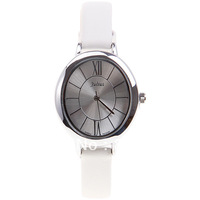 Julius Women's Wrist Watch with Quartz Analog Dial 10mm White Leather Band